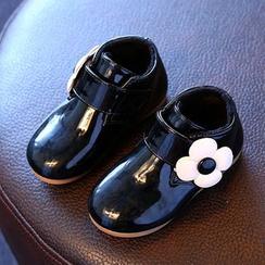 綠豆蛙童鞋 - 童裝小花皮鞋