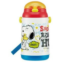 Skater - SNOOPY Water Bottle with Straw 400ml