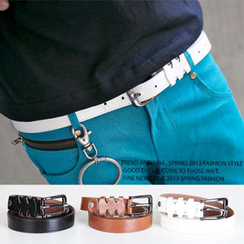 SeventyAge - Faux-Leather Slim Belt