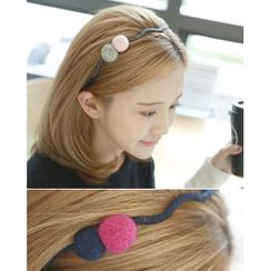 Miss21 Korea - Pompom Slim Hair Band