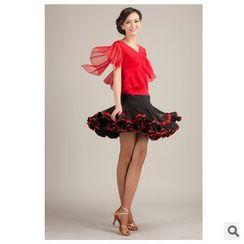 AUM - 拉丁舞套裝: 上衣 + 短裙