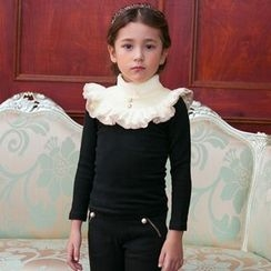 Cuckoo - Kids Ruffle Trim Long-Sleeve T-Shirt