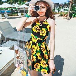 Vicki Vicki - Sunflower Print Swimdress
