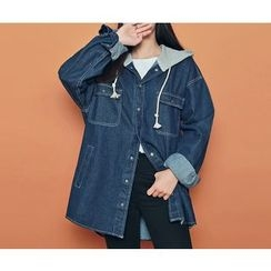 HOTPING - Hooded Denim Jacket