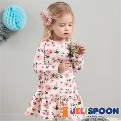 JELISPOON - Girls Frill-Hem Floral Dress