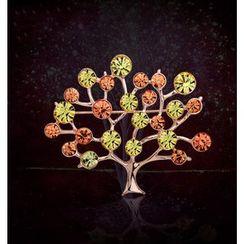 KINNO - Rhinestone Tree Brooch