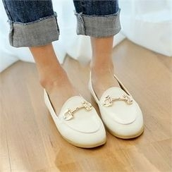 Styleberry - Buckle-Trim Loafers