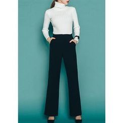 Chlo.D.Manon - High-Waist Wide-Leg Dress Pants