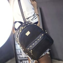 Suis MOI - Faux Leather Studded Backpack