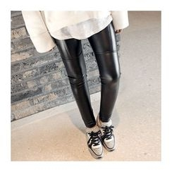 1ROA - Fleece-Lined Faux-Leather Leggings
