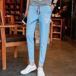 Hansel - Printed Straight-Cut Pants