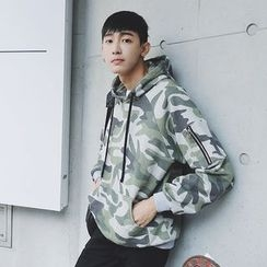 Mr. Cai - Camouflage Hooded Pullover