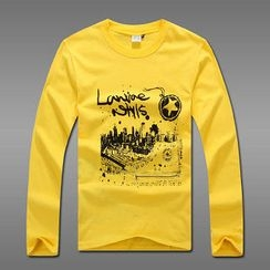 MR.PARK - Long-Sleeve Printed T-Shirt