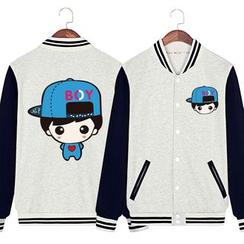 Matcha House - Couple Matching Printed Baseball Jacket