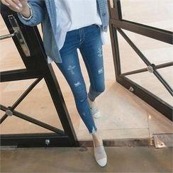 PEPER - Distressed Skinny Jeans