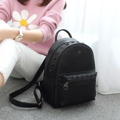 Princess Carousel - Studded Woven Backpack