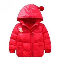 Endymion - Kids Pompom Hooded Down Jacket