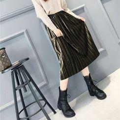 EFO - 饰褶中長裙