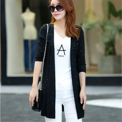 Crista - Cutout Knit Long Cardigan