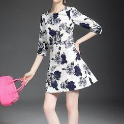 Alaroo - Flower Print A-Line Dress