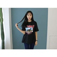 Envy Look - Short-Sleeve Printed T-Shirt