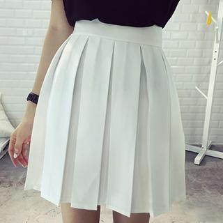 Dute - High-waist Pleated Skirt