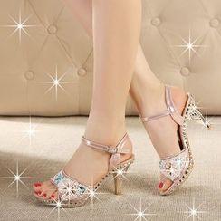 Monde - 缀饰高跟凉鞋