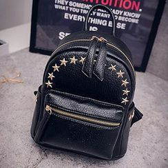 Youme - Faux Leather Studded Backpack