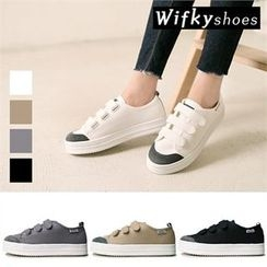 Wifky - Contrast-Trim Velcro Sneakers