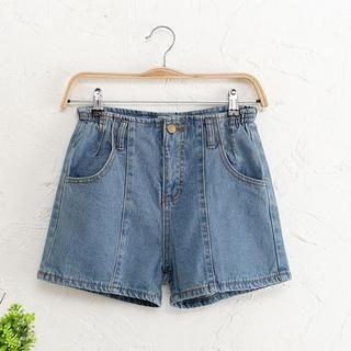 JVL - High-Waist Denim Shorts