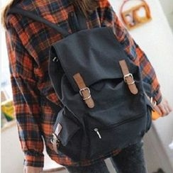 Bagolo - Buckled Canvas Backpack