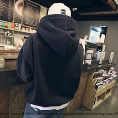 NANING9 - Brushed Fleece Hooded Pullover