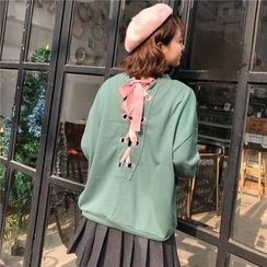 Bloombloom - Lace Up Sweatshirt