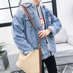 Bay Go Mall - Distressed Denim Jacket