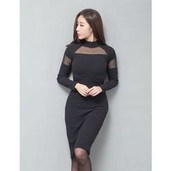 GUMZZI - Sheer Bodycon Dress