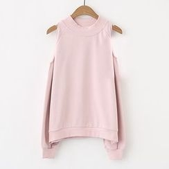 Meimei - Cut Out Shoulder Pullover