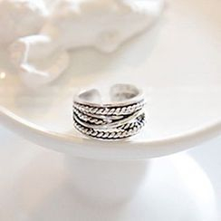 Kulala - Sterling Silver Embossed Open Ring