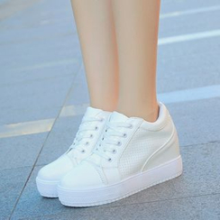 BAYO - 厚底內增高繫帶休閒鞋