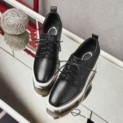 錦洋鞋業 - 內墸高厚底牛津鞋