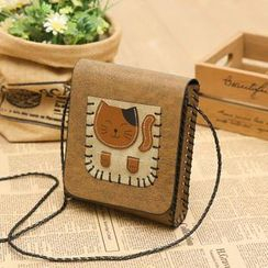 Vintage Kiss - Appliqué Crossbody Bag