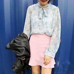 HELLO KANO - Ruffle Panel Mini Skirt