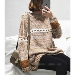 Oaksa - Melange Knit Top