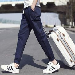 ZONZO - Drawstring Cotton Jogger Pants