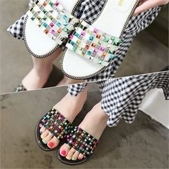 Reneve - Colored Studded Mules