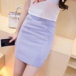 Sienne - Plain Mini Skirt