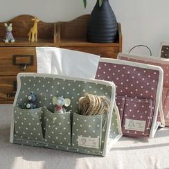 Timbera - Dotted Desk Organiser Tissue Box