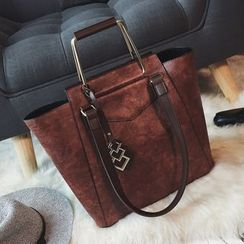 Nautilus Bags - Set : Faux Leather Tote Bag + Shoulder Bag