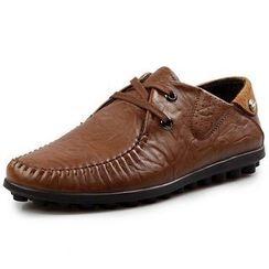 Van Camel - Genuine Leather Boat Shoes