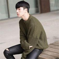 STYLEMAN - Waffle-Knit Sweater