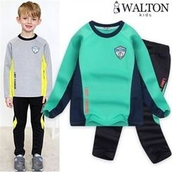 WALTON kids - Boys Set: Color-Block T-Shirt + Sweatpants